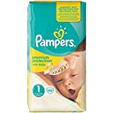 Ancienne version - Pampers New Baby Nouveau-Né ( 2-5 kg / 4-11 Lbs) , 45 Couches Taille 1 Géant - Lot de 3 (135 couches)