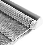 Tende a rullo Tapparelle avvolgibili Prive di perforazioni per finestre, Impermeabili con Filtro Leggero, Isolamento Termico, Facile da installare, Grigio (Qualsiasi Dimensione)