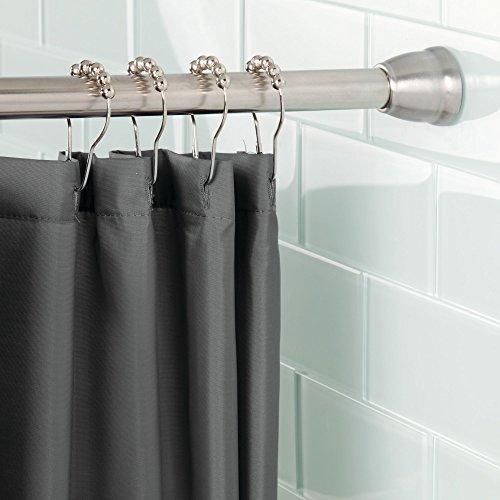 mDesign Barra para cortinas de baño sin taladro – Barra para ducha...