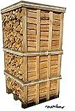 mumba® Palette Brennholz Birke 33cm Scheitholz 2RM-Box Feuerholz (Birke 33cm)