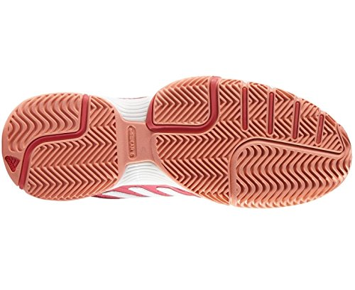 adidas Damen Barricade Court 2 W Turnschuhe Rosa / Blanco  (Rojimp / Ftwbla / Brisol)