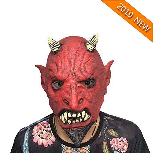 Frauen Kostüm Circus - YVQO Halloween Horror Demon Joker Maske Scary Cosplay Evil Circus Clown Maske