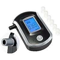 Alcoholímetro Digital Portátil Pantalla LCD Prueba Alcohol Tester Detector Boquillas Recambio Blow Soplar, Electrónica Rey®