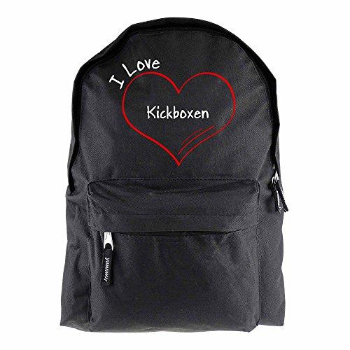 Rucksack Modern I Love Kickboxen schwarz