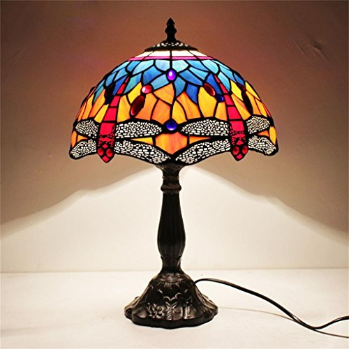 TRRE-exquisite blaue Libelle europäische Studie Wohnzimmer Schlafzimmer Nachttischlampe -