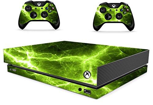 The Grafix studio Green Electric Sticker/Skin Xbox One X Konsole und Fernbedienung Controller Aufkleber, xbx14