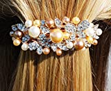 Butterfly Hair Clip Butterfly Hairclip Crystal Hair Clip Pearl Barrette Wedding Hair Clip Rhinestone Hair Accessory Diamante Hair Grip Bridesmaid Hair