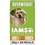 Iams Dry Dog Food Adult Light, 3 kg - Pack of 3