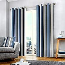 Fusion - Cortinas con Ojales (168 x 229 cm), Color Azul