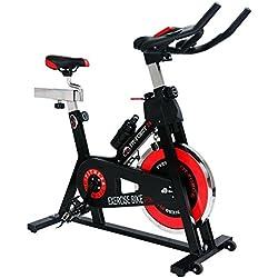 Bici spinning Fit-Force con volante de inercia de 24kg para profesionales