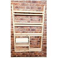 Küchenregal aus Holz mit Halterung für Küchenrolle - hergestellt aus recyceltem Altholz - Upcycling Regal -