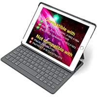 "Inateck iPad Keyboard Case for 9.7"" iPad 2018(Gen 6)/iPad 2017(Gen 5) and iPad Air 1 with intelligent magnetic switch iPad keyboard cover,Dark Grey"