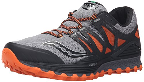 Saucony Xodus Iso, Zapatillas de Running para Hombre, Gris (Grey/Orang