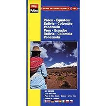 Carte routière et touristique : Pérou-Equateur-Bolivie-Colombie-Venezuela N° 381 (avec un index)