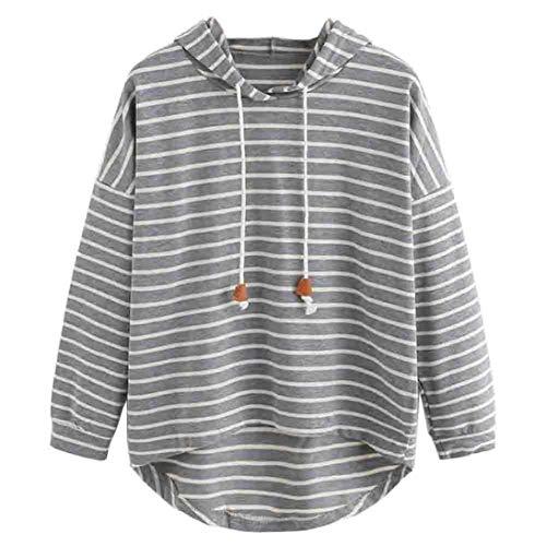 Sweatshirt Damen SUNNSEAN Frauen Herbst Hoodie Lässige Streifen Kleidung Oberteile Pullover Tops Mit Kapuze Stilvolle Lose Tuniken Bequem Bluse