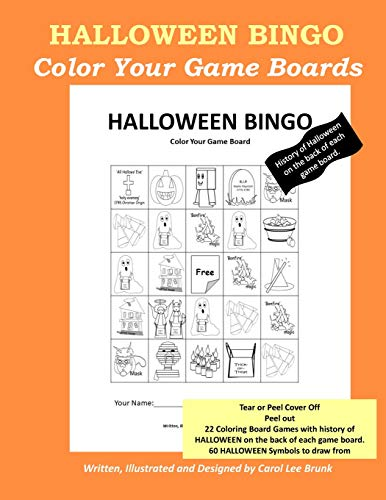 Halloween Bingo: Color Your Own Game Boards