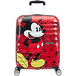 American Tourister Disney Wavebreaker, Spinner, S (55cm-36L), Multicolor (Mickey Comics Red)