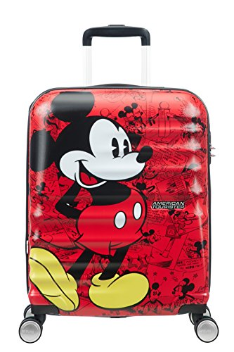 American Tourister Disney Wavebreaker Bagaglio a Mano, S (55cm-36L), Multicolore (Mickey Comics Red)