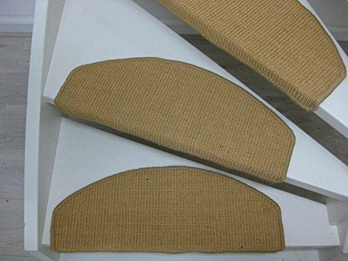 Ambon Stufenmatten Sisal 65/28 cm 15-teilig set