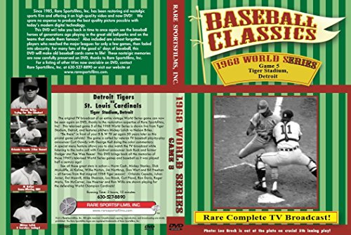 1968 WORLD SERIES GAME 5 Detroit Tigers and St. Louis Cardinals, Mickey Lolich vs Nelson Briles on DVD! Louis Cardinals Video
