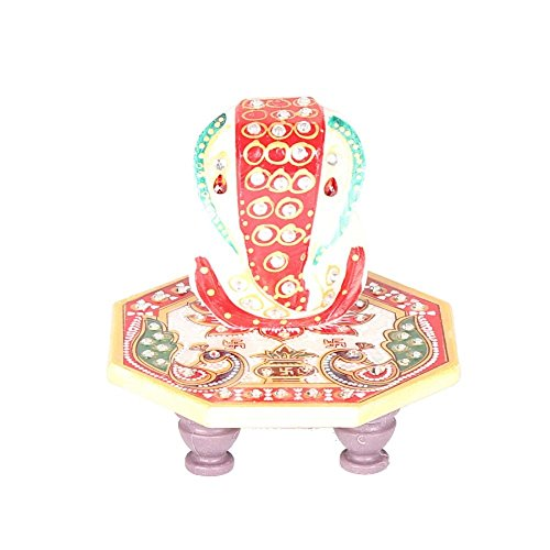 Shining Wings Marble Chowki Ganesha Idol  available at amazon for Rs.105
