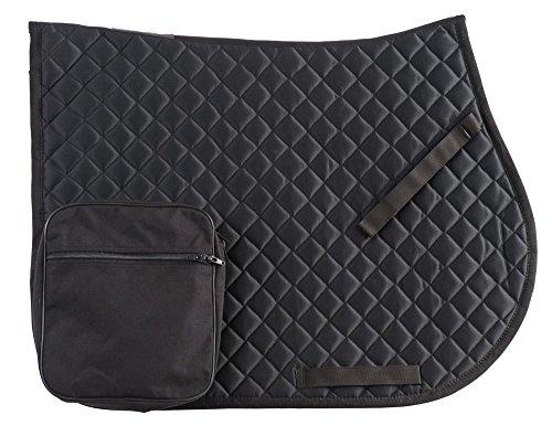 RANDOL\'S Wanderreitschabracke mit Taschen, marine/hellblau, Warmblut