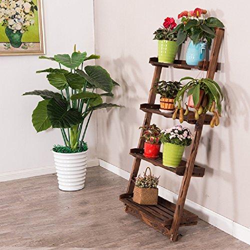 Étagère de fleurs trapézoïdales Bois Intérieur Intérieur Salon de plusieurs étages Salon Balcon étagère murale L * H: 70 * 150cm