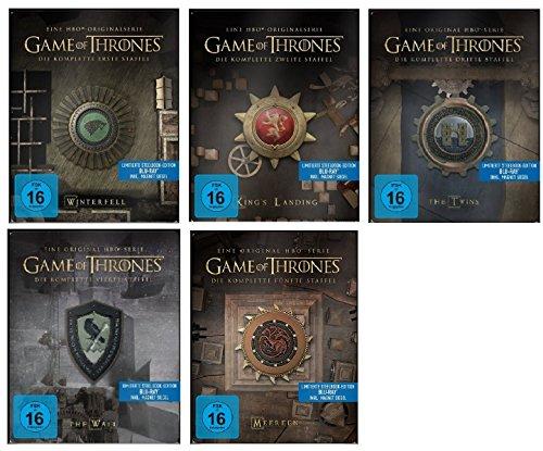game of thrones steelbook staffel 3 Blu-ray Steelbook Set * Game of Thrones Season / Staffel 1+2+3+4+5 (1-5) / Alle 5 mit Magnet Siegel
