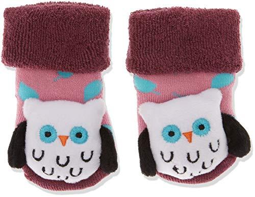 Sterntaler Mädchen Baby-Rasselsöckchen Socken, Violett (Pflaume 678), One Size (15/16)