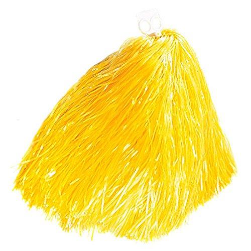 NET TOYS Cheerleader Bommel Pom Pom gelb Pompon Pompom Puschel Bommel Kostüm Zubehör Accessoire