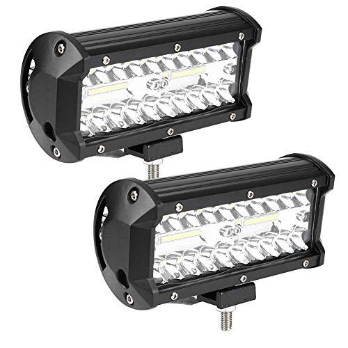 Vobor LED Arbeitslicht 7 inch 120 Watt Bar Spot Hohe Qualität Flood Combo Strahl nebelscheinwerfer Wasserdicht für Offroad ATV Pack von 2 stücke Spot Combo Pack