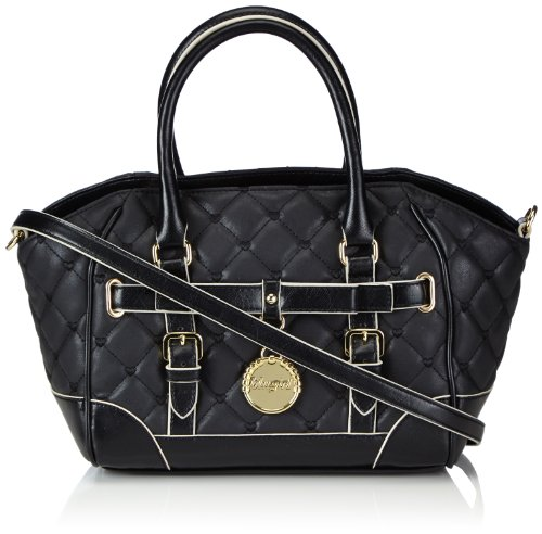 blugirl handbags 335002/CM3350, Borsa a mano con due manici Donna Nero (Schwarz (Black)