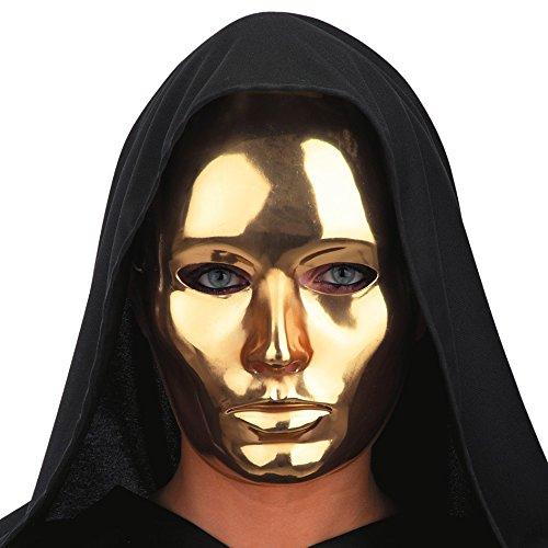 CARNIVAL TOYS S.R.L. Gold glänzende Maske für Erwachsene