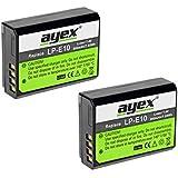 Lot de 2ayex® LP-E10Batterie Li-Ion pour Canon EOS 1100D, 1200D