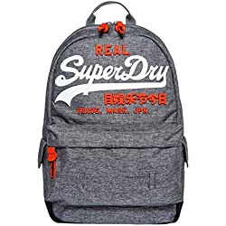 Superdry - Premium Goods Backpack, Hombre, Gris (Grey Marl), 15x45x34 cm (W x H L)