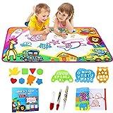 Phyles Wasser Zeichnen Matte, Farbe Kinder Wasser Zeichnung Mat Board 87x57CM Magic Doodle Malmatte mit 6 Colors Spielzeug für Kinder Mädchen Jungen Educational Gift
