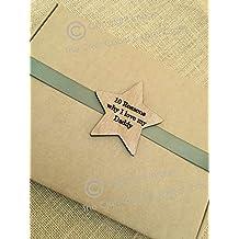 """Personalizado Star de madera de Dad Fathers Day """"10razones por las I Love My Daddy 'caja de regalo"""