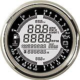 Eling 6en 1multi-fonction Jauge Mètre GPS Compteur de vitesse tachymètre heure...