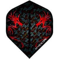 Hardcore 2D Holographic Dragon Extra Thick Standard Dart Flights - 3 sets Per Pack (9 Dart Flights in total) & Red Dragon Checkout Card