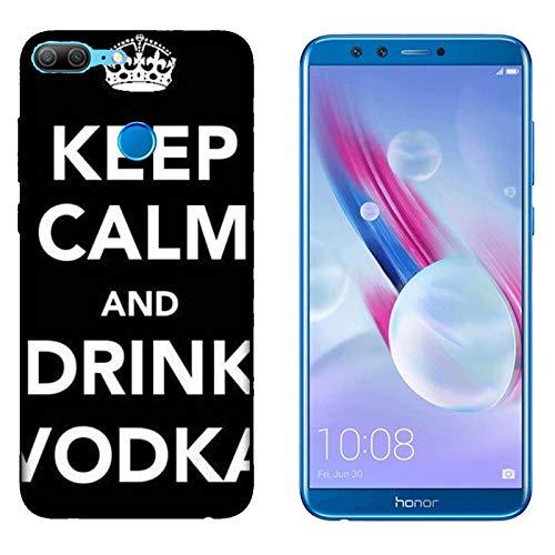 Hülle 9 Lite Case Honor 9 Lite Lustige Sätze Haltet Kalm und trinkt Wodka/Cover Druck auch an den Seiten/Anti-Rutsch Anti-Rutsch Anti-Scratch Schock-resistenten Schutz Schutzulle Starre