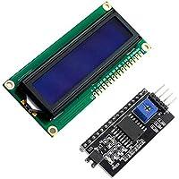 Ociodual LCD 1602 Pantalla Azul + Adaptador IIC/I2C Compatible arduino Display PCF8574T