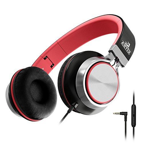 Artix Casque Pliable avec Micro, Écouteurs compacts stéréo NRGSound CL750 Parfait pour Les Adultes (Noir)