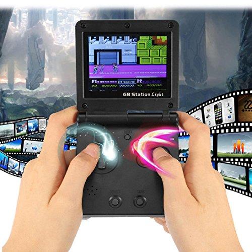 Videospiel-geburtstags-karte (smileq Mini Retro Handheld Video Game Konsole 142Spiele tragbar Game Player Kinder Geschenk, a)