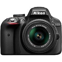 Nikon D3300 Kit Fotocamera Reflex Digitale con Nikkor 18/55VR II New F, 24.2 Megapixel, LCD 3 Pollici, Nero [Versione EU] (Ricondizionato) )
