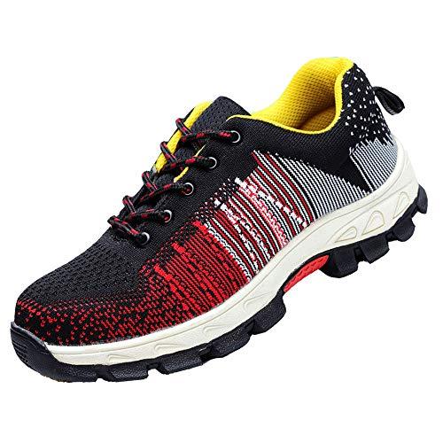 DADAZE Damen Herren Sicherheitsschuhe Arbeitsschuhe Traillaufschuhe Atmungsaktiv Stahlkappe Wanderhalbschuhe Hiking Schuhe