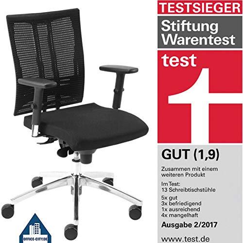 Nowy Styl NET-MOTION Arbeitsdrehstuhl Ohne Kopfstütze, Schwarz