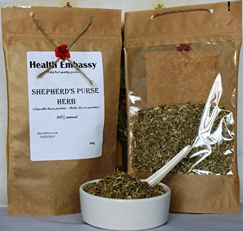 (Gewöhnliches Hirtentäschel 100g (Capsella bursa pastoris - Herba Bursae pastoris) / Shepherd's Purse Herb 100g - Health Embassy - 100% Natural)