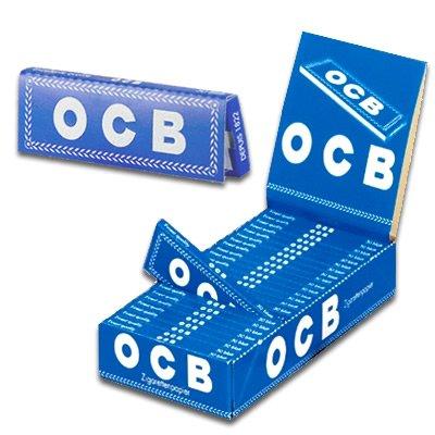 OCB 1001 Zigaretten-Papier Gummizug, 25 Heftchen 50 Blatt, blau