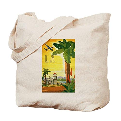 CafePress–Vintage Travel Poster Los Angeles–Leinwand Natur Tasche, Reinigungstuch Einkaufstasche, canvas, khaki, M (Waschen Americana)