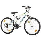 24 Zoll Speed Fully Kinderfahrrad Full Suspension Mountainbike MTB 18-Gang - 4